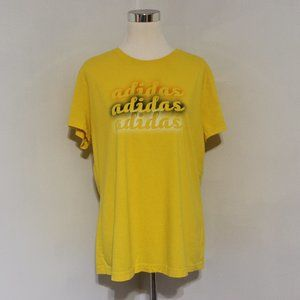 Adidas Yellow Graphic Tee T-Shirt Short Sleeve XL